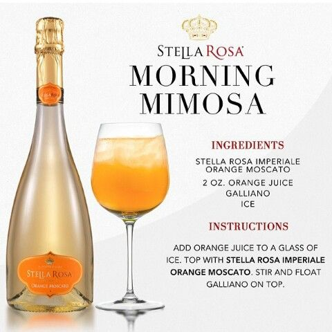 I must try this Stella Rose morning mimosa!!!!