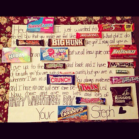 Candy Poster Ideas For Boyfriend Boyfriend For Valentine S Day