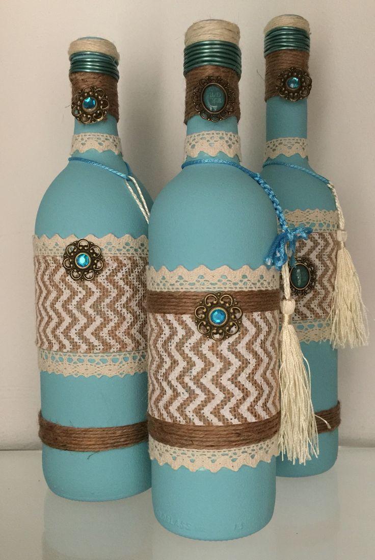 Crafty Altered Bottles upcycled