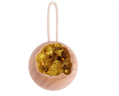 WOODEN GEODE ORNAMENTSGeode Ornaments, Wood Ornaments, Wooden Gold, Geode Wood, Wooden Geode, Christmas Ornaments, Wooden Ball, Gold Geode, Wood Christmas