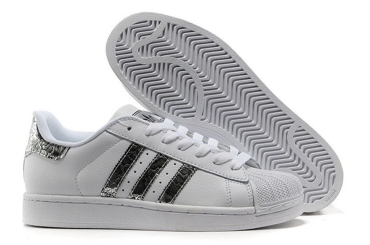 Hot Sale Adidas Superstar 2 G62847 Leather White Snake Silver Trainers Shoes UK. Awesome, but better if not white.