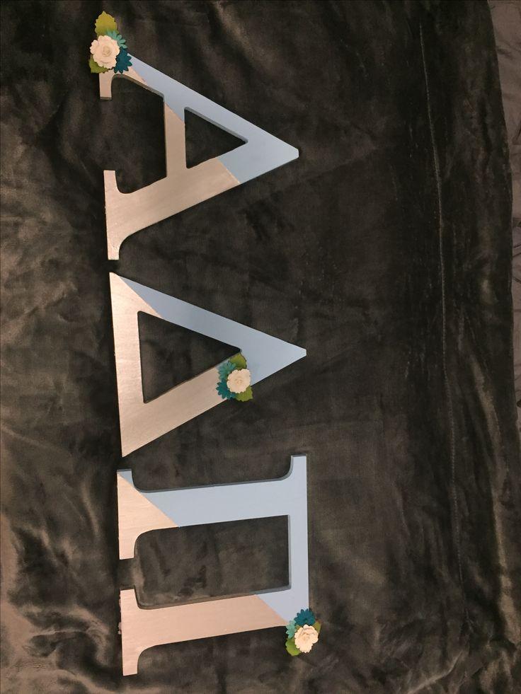 Alpha Delta Pi sorority letters, made them for big-little baskets!!