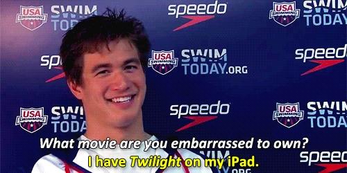 Nathan Adrian loves twilight