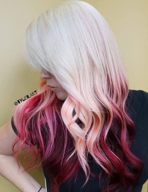 25 Best Ideas About Burgundy Blonde Hair On Pinterest