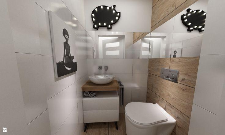 Łazienka styl Skandynawski - zdjęcie od Grafika i Projekt architektura wnętrz…