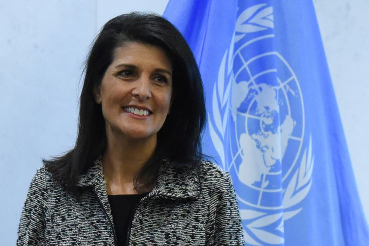 Nikki Haley discussed reviving Israeli-Palestinian peace negotiations during her first meeting with Palestinian envoy to UN