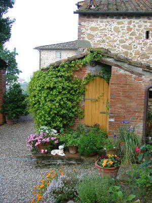 117 best garden shed images on pinterest garden deco for Brick garden shed designs