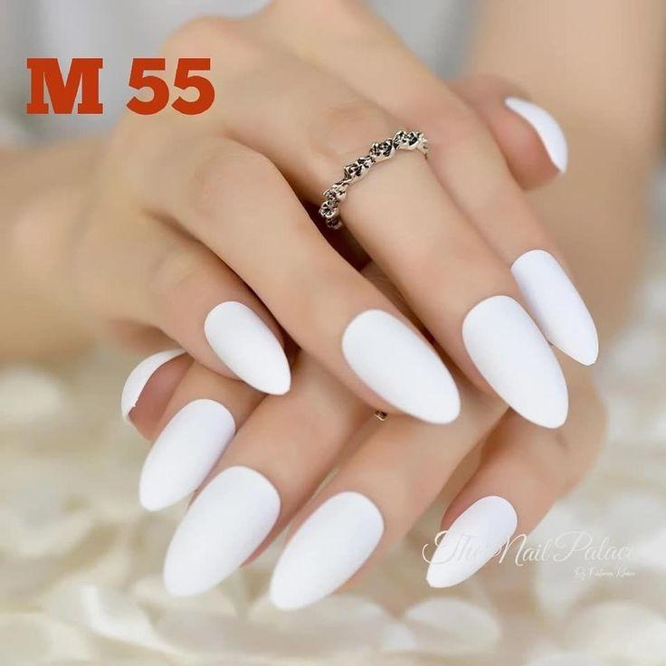 Mandel gefälschte Nägel Matte Matt Presse auf den Nägeln gefärbt Großhandel falsche Nägel 24 …
