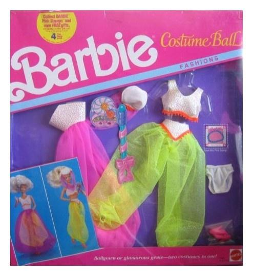 Mattel Barbie Costume Ball Fashions - Ball Gown or Genie (1990)