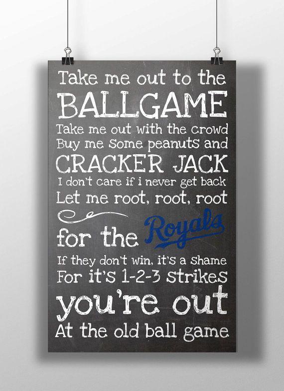 Kansas City Royals Take Me Out to the Ballgame by BigLeaguePrints, $12.00