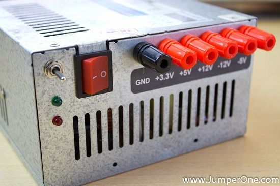 Turn an old computer power supply into a workbench power supply