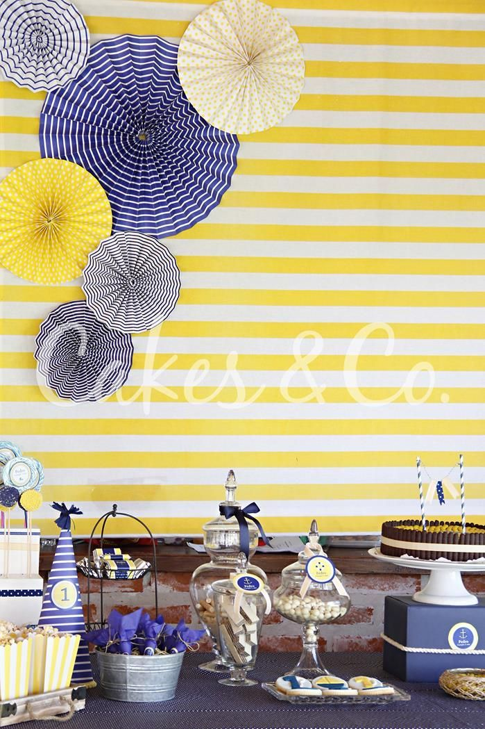 Yellow And Blue Nautical Birthday Party Ideas Supplies Planning