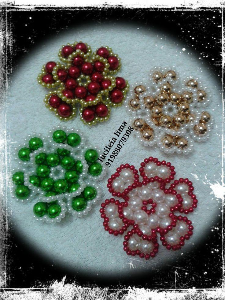 flor de pérolas tipo dupla