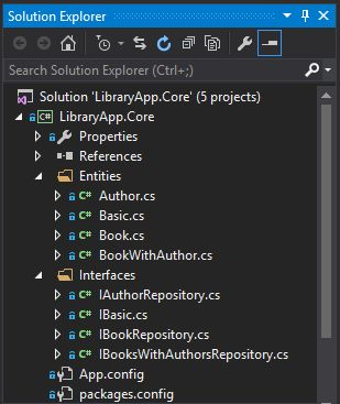 developing a sample project in repository design pattern with the combination of entity frameworks code