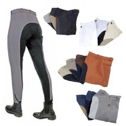 De rijbroek Premium is van hoge kwaliteit. Vocht wordt snel opgenomen en de broek is ademend. De broek heeft een 3/4 zitvlak van Softline. Aan de voorkant van de broek zit een zak met een rits, de broekspijpen worden gesloten met klittenbandsluiting.