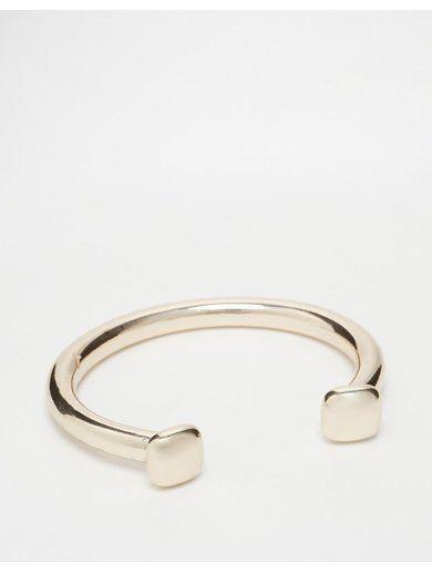 River Island Chunky Clean Cuff Bracelet - Gold http://sellektor.com/all?q=river+island