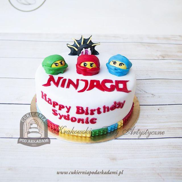 225bd Tort Z Glowami Lego Ninjago Lego Nin Jago Cake Cake Birthday Cake Desserts