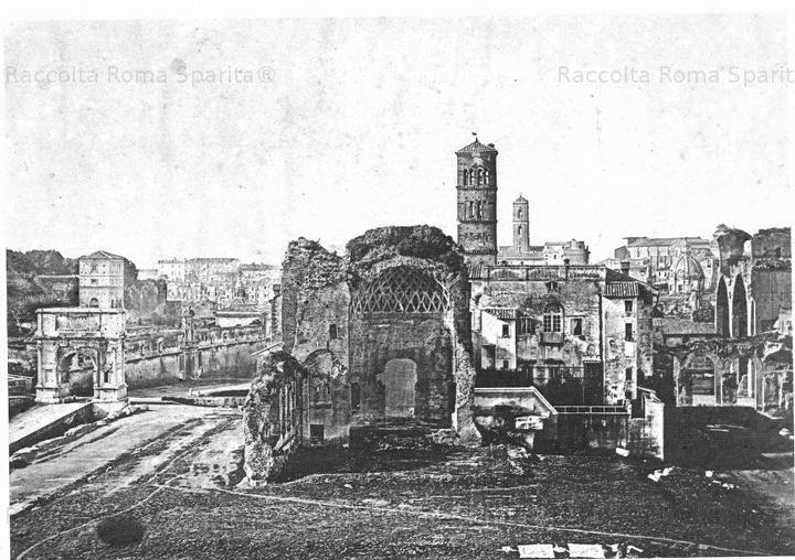 Foro Romano visto dal Colosseo. In primo piano il tempio di Venere e Roma e l'arco di Tito Anno: 1854commenti. Oppure iscriviti s