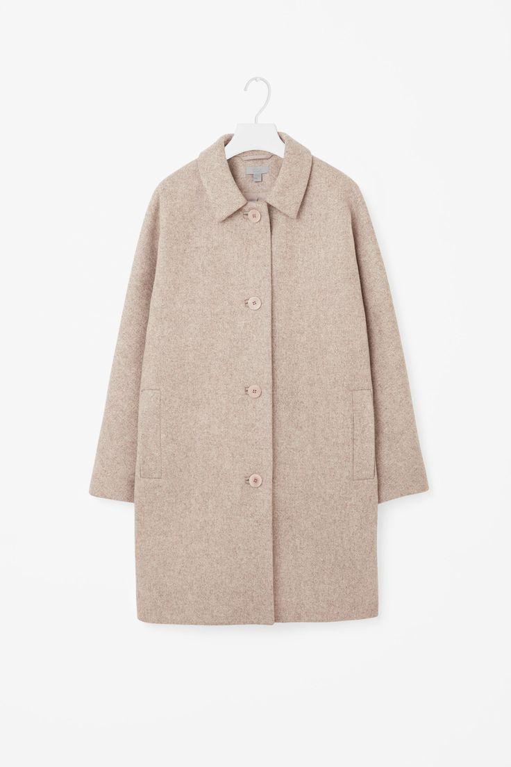 COS image 4 of Kimono sleeve coat in Biscuit