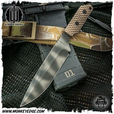 Strider Knives Fixed: LD Gunner Grip w/Upper Swedge Grind
