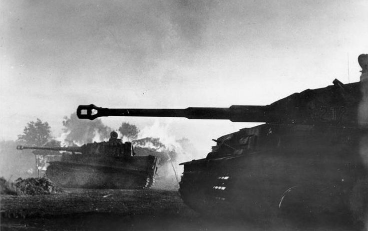"In mid-July of 1943, ""Tiger"" tanks of the German Army during the heavy fighting south of Orel, during the Battle of Kursk. From July until August of 1943, the region around Kursk would see the largest series of armored battles in history, as Germans brought some 3,000 of their tanks to engage more than 5,000 Soviet tanks."
