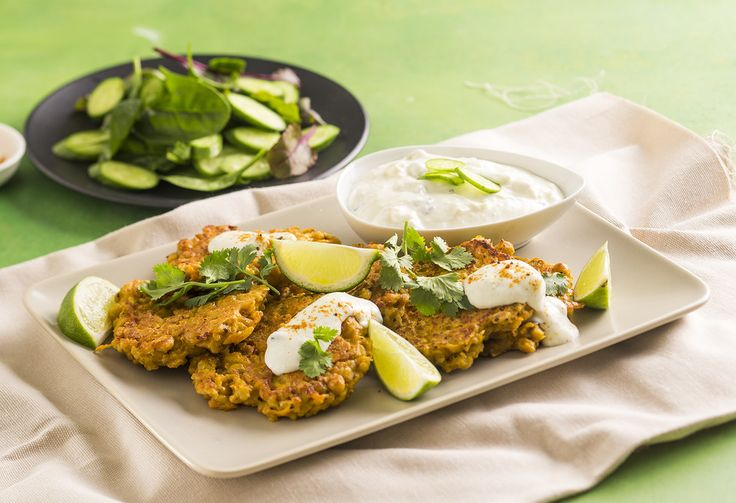 With the goodness of super-plant turmeric, these veggie fritters are crispy, delicious and full of turmeric power, which includes helping fight the common cold!
