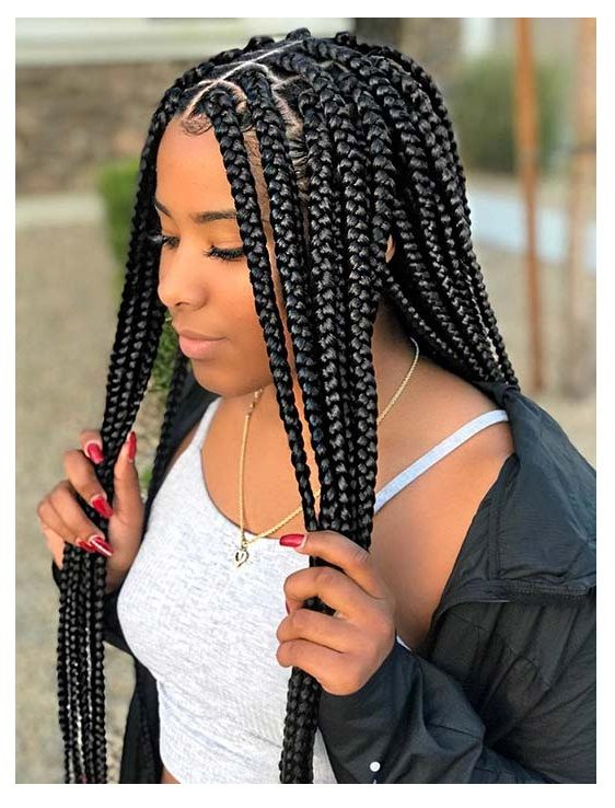 Looking For Trendy Box Braids Then This Is The Hairstyle