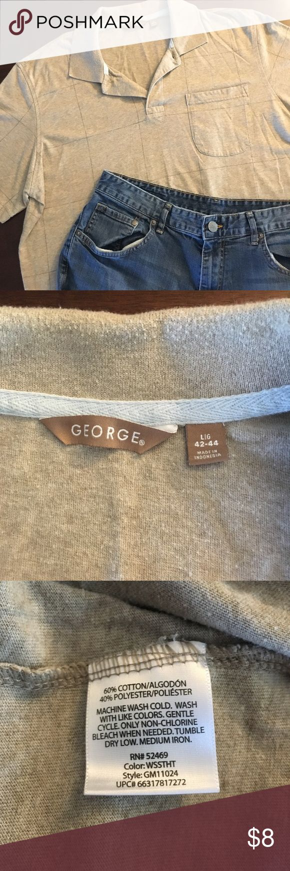 George Polo light brown top with a darker brown and light blue plaid pattern with pocket in the front.  has been worn but no signs of flaws so in good condition!  • open to offers 💰 • no trades ❌ • feel free to ask any questions 🤔 • interested in multiple items?  I can whip up a bundle for you, just ask! 🎁 George Shirts Polos