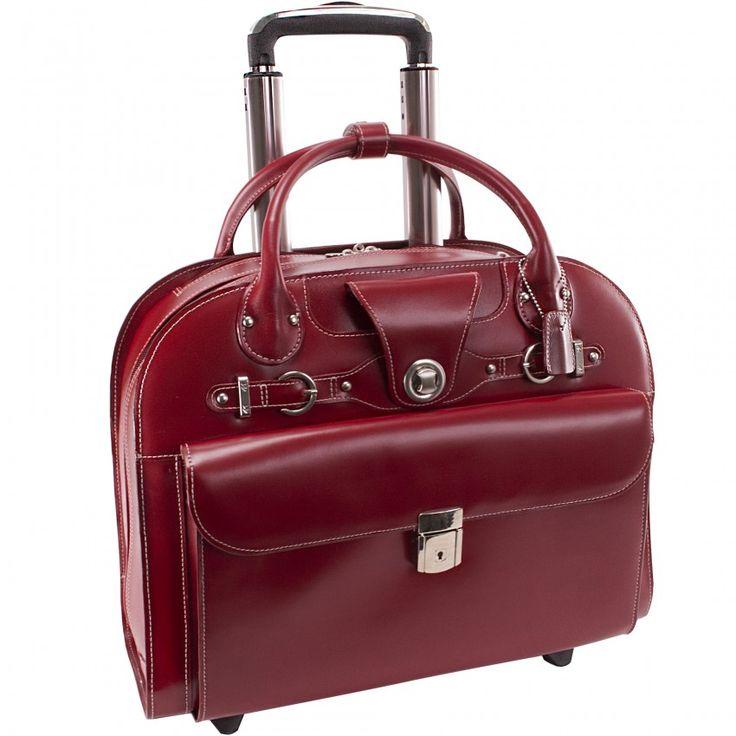 McKleinUSA EDGEBROOK 96315 Wheeled Ladies' Laptop Case in red