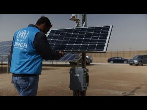 Jordan opens world's largest solar park for refugee camp