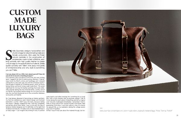 Editorial design - Custom Made Luxury Bags on Behance