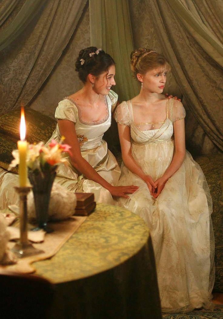 Sonja and Natasha - Ana Caterina Morariu and Clémence Poésy in War and Peace (TV mini-series 2007, novel by Leo Tolstoi).