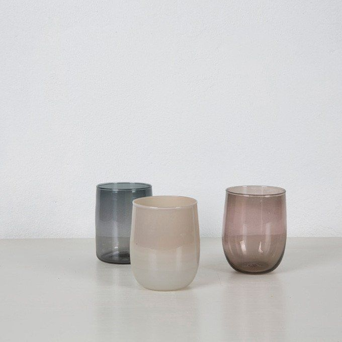 Grey Drinking Glasses - Monmouth Glass Studio