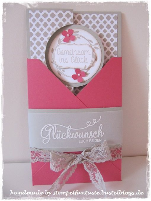 Hochzeitskarte, Wedding Card, Stempelfantasie, Trau Dich, Pop-Up-Karte