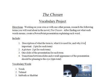 The chosen by chaim potok essay