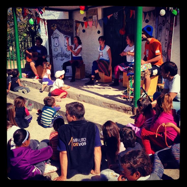 Recital Solidario de Bigolates de Chocote, sponsoreado por Root4 junto a 1 Minuto de Vos y los chicos del Barrio San Cayetano de Campaba, Buenos Aires.