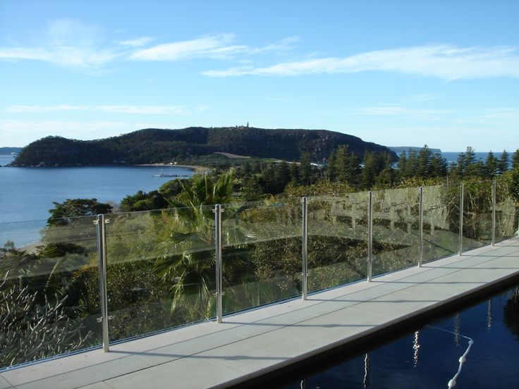 EnduroShield has been applied to this glass railing in Palm Beach, Sydney