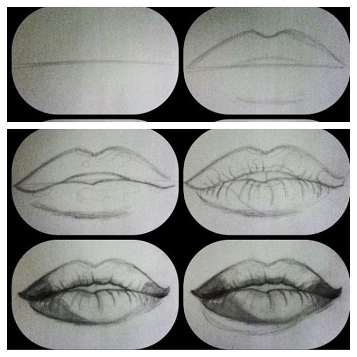 How to draw realistic lips | Art projects | Pinterest ...