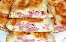 Блинчики с колбасой и сыром - пошаговый рецепт с фото на Повар.ру