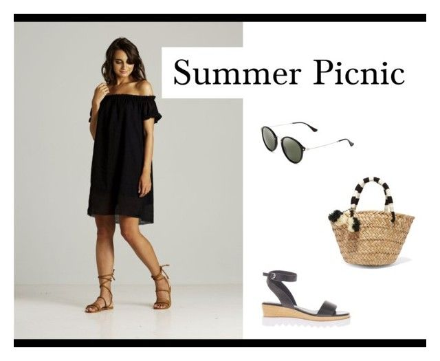 Little Black Dress by sunkissed-the-collective on Polyvore featuring Kayu, Ray-Ban, Rue Stiic and Sol Sana.