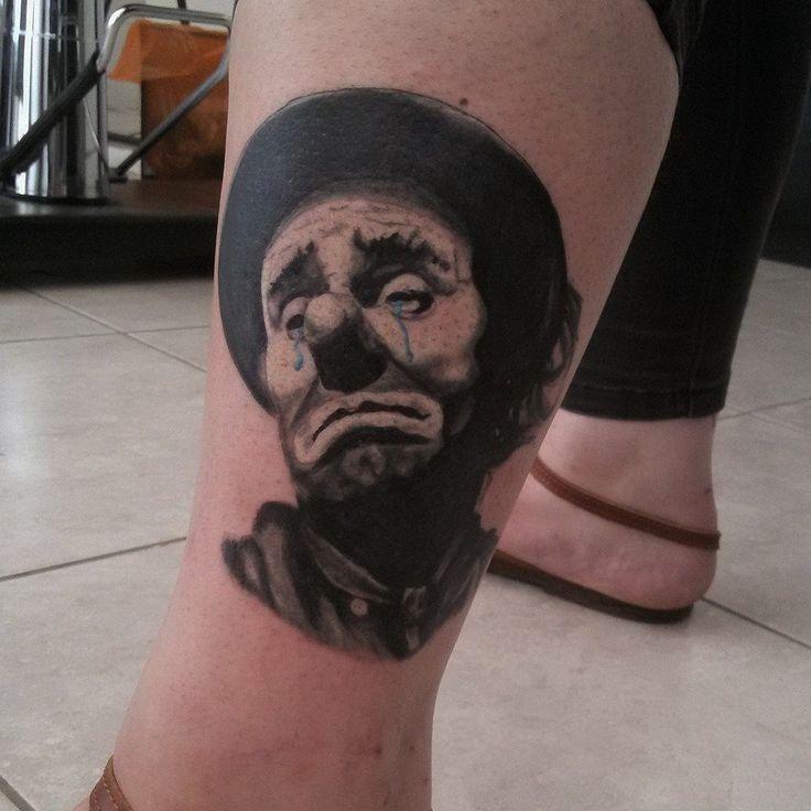 crying clown  . Emmet kelly tattoo