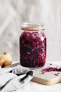 In this beet and red cabbage sauerkraut you'll get the amazing probiotic properties of fermented cabbage with the added benefit of the powerful antioxidants contained in beets.