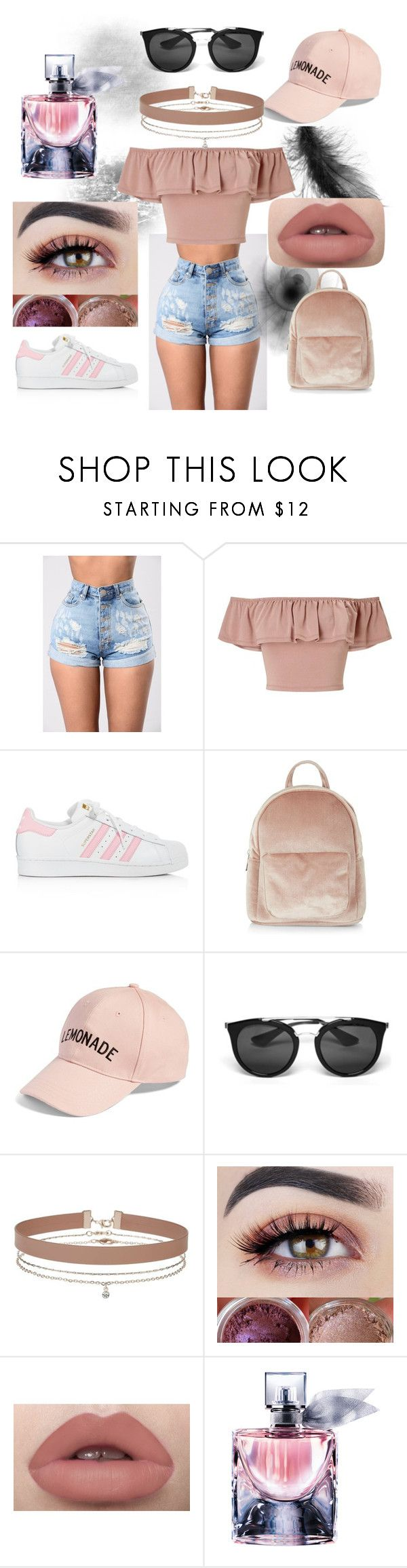 """outfit juvenil casual"" by mariapazmarixxd on Polyvore featuring moda, Miss Selfridge, adidas, New Look, Amici Accessories, Prada y Lancôme"
