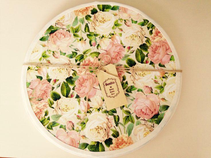 Plato de sitio floral face:Benita