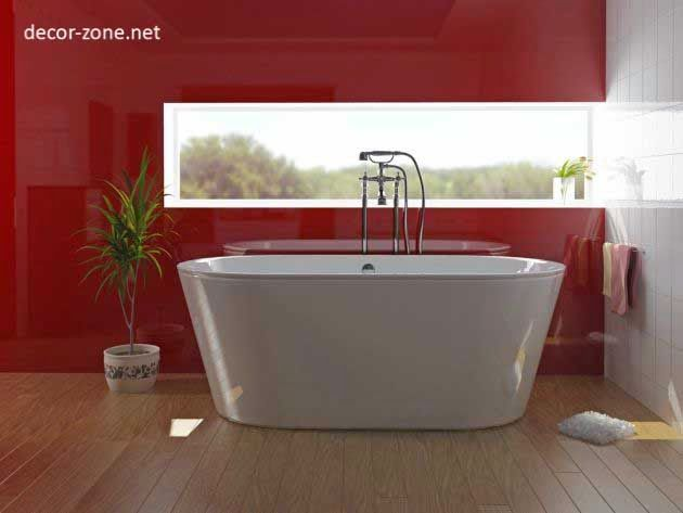 modern red popular bathroom paint colors, combinations