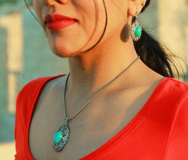 Blue stone jewellery
