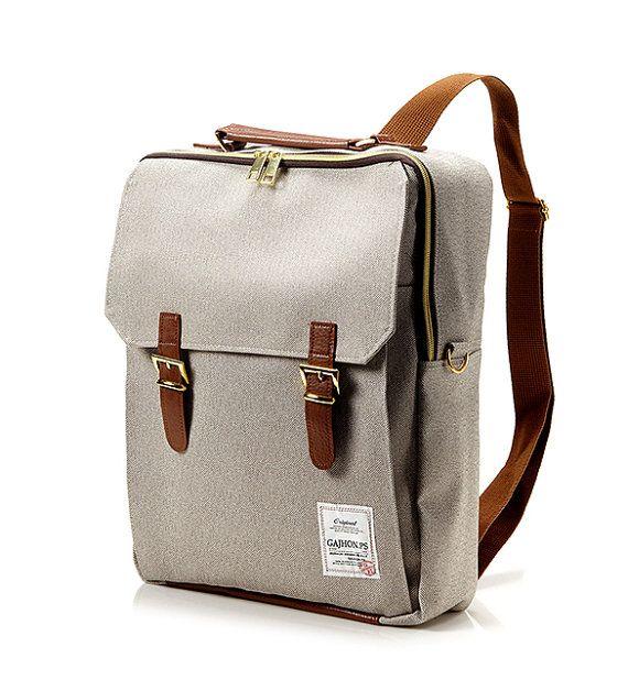 Compartimento interior para ordenador portátil. Utilice el bolso de escuela y trabajo Correa de hombro incluida  Color: Marrón (2 º, 3 º, 4 º, 5 º fotos