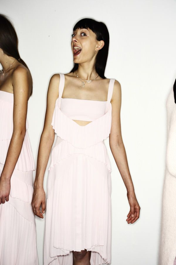 Don Lee Fashion Show, more backstage pics here http://sonnyphotos.com/2014/02/dion-lee-aw14-15-fashion-show-new-york-backstage