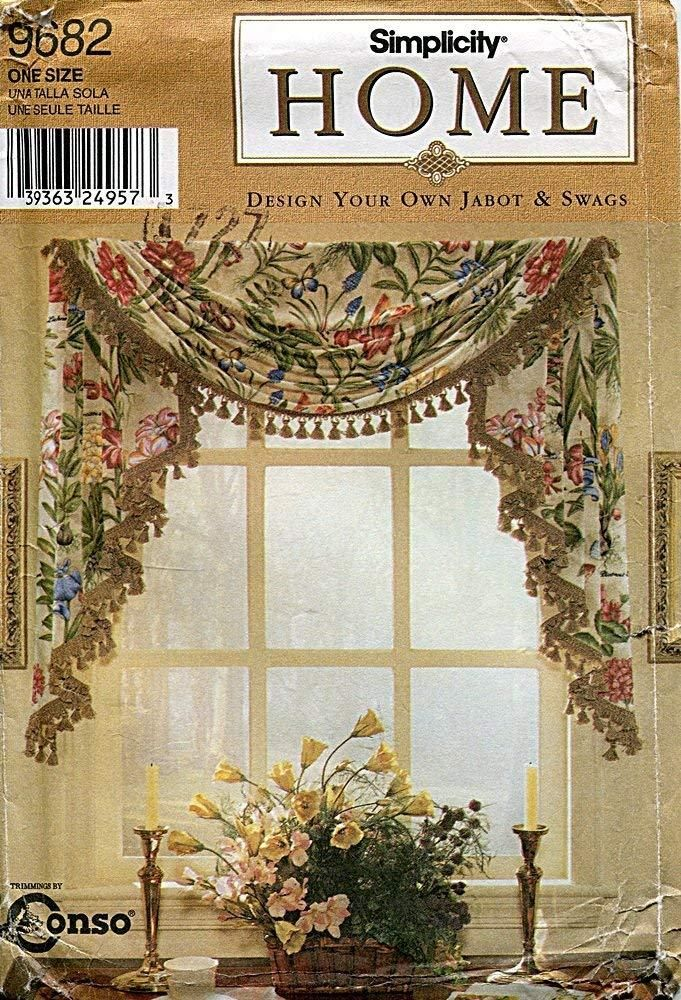 Design Your Own Room: Simplicity Home Pattern 9682 Design Your Own Jabot & Swags