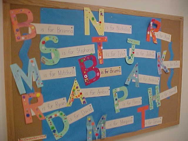 Initial Letter Name Activity and Bulletin Board